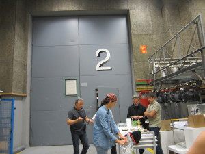 """Studio 2 where we got to see """"Els matins"""" live on air."""