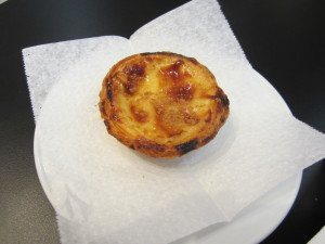 Pastel de nata. I've had this pastry about three times today.