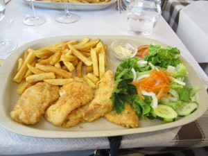 Fish and chips (Portuguese style)